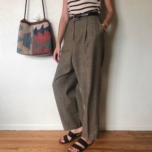 Vintage 80s High Rise Houndstooth Pants